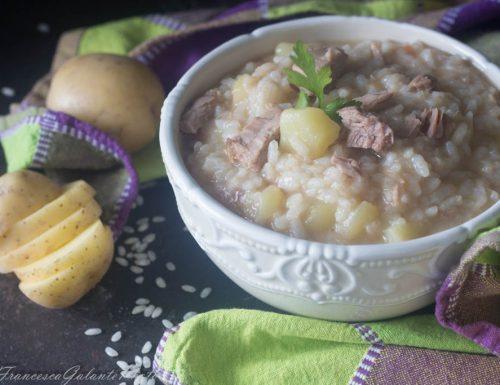 Risotto patate tonno e pomodori cremoso