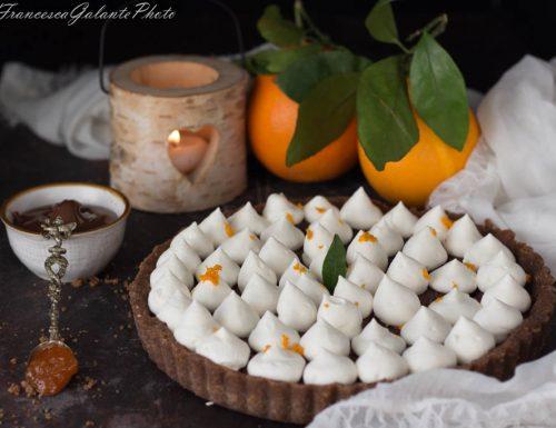 Torta arancio e cioccolato senza cottura