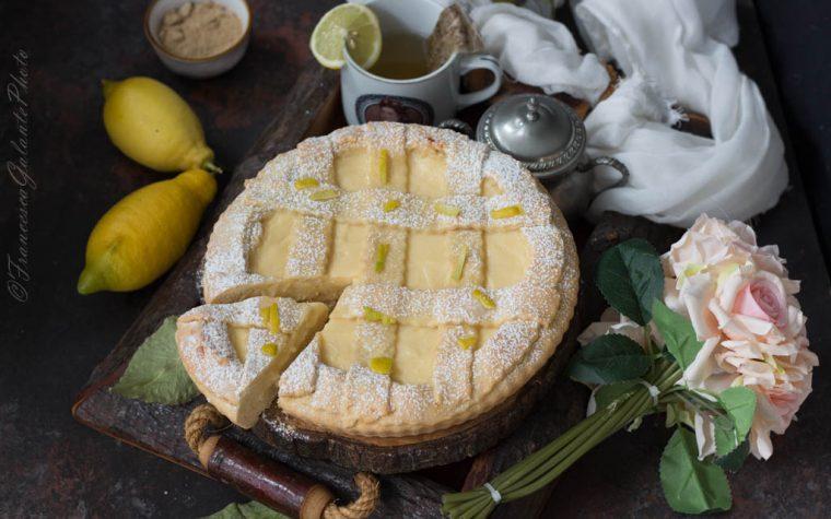 Crostata di limone e zenzero senza burro
