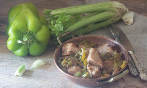 Tacchino con peperoni e sedano ricetta light