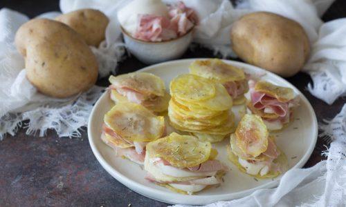 Millefoglie di patate cotto e mozzarella – I Sapori di Ethra