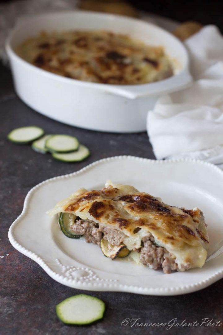 Timballo di zucchine e patate al forno