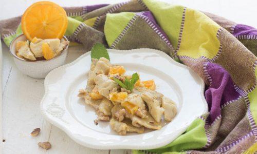 Scaloppine di lonza all'arancia con carciofi