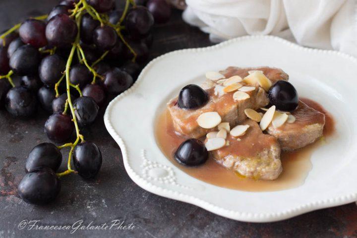 Ricetta filetto di maiale all'uva nera