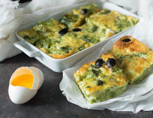 Frittata con i broccoli al forno  facilissima