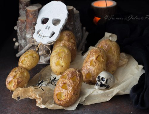 Patate con buccia al forno  idea  Halloween