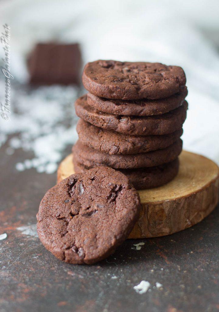 Biscotti con cioccolato fondente e sale di Cervia di Teresa Doria