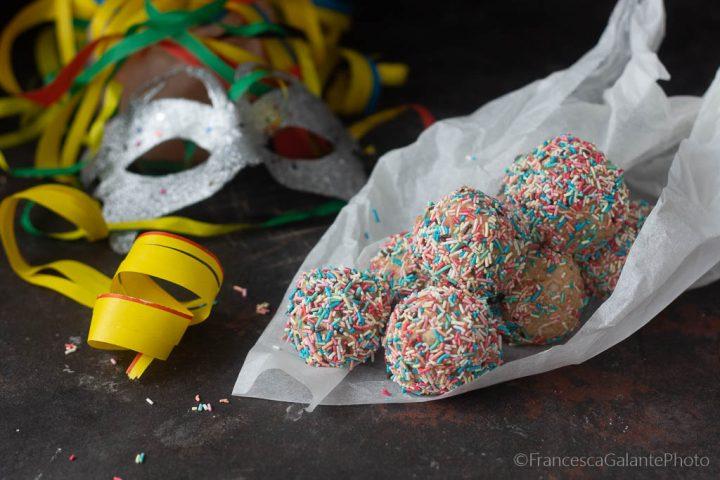 Tartufini ricetta colorata di carnevale