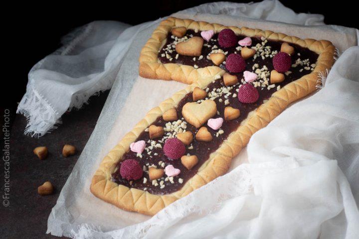 Torta pasta frolla Massari a forma di numero