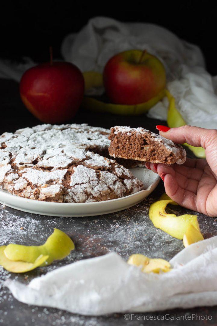 Torta mele e cacao ricetta facile