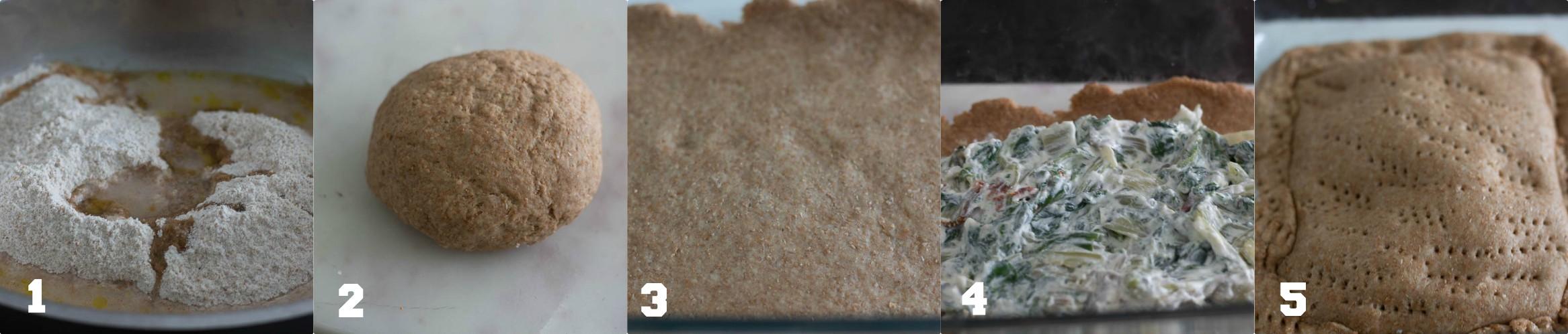 Pasta matta integrale con ricotta bietola e pomodori