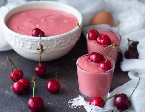 La crema pasticcera alla ciliegia facilissima