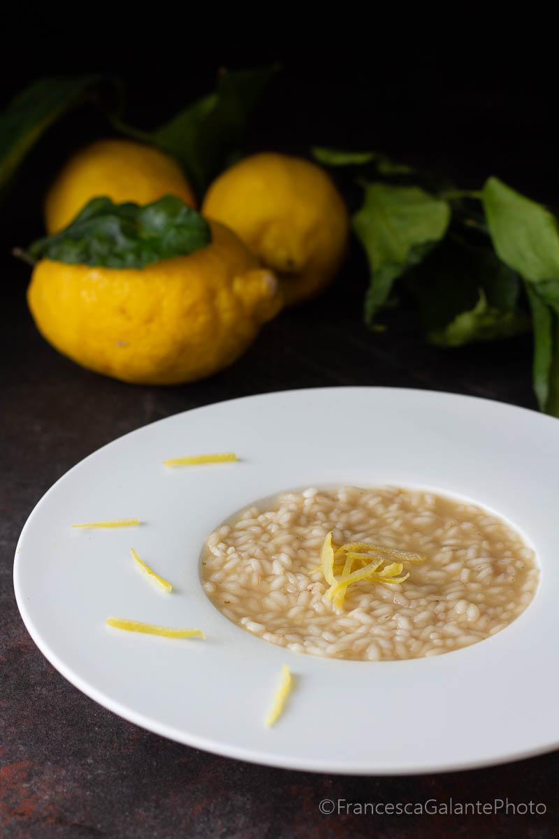 Risotto cremoso con i limoni di Sorrento