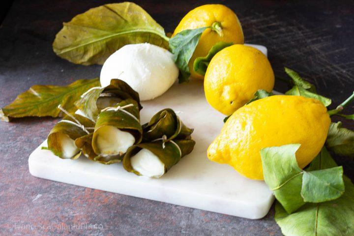 La mozzarella in foglia di limone