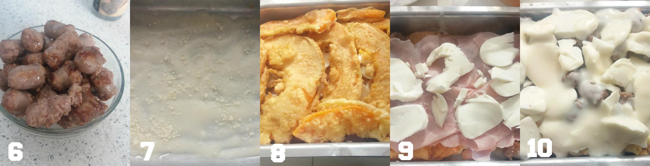 Parmigiana di zucca in pastella fritta e salsiccia