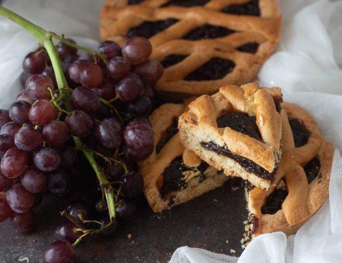 Crostata all'uva /frolla senza burro