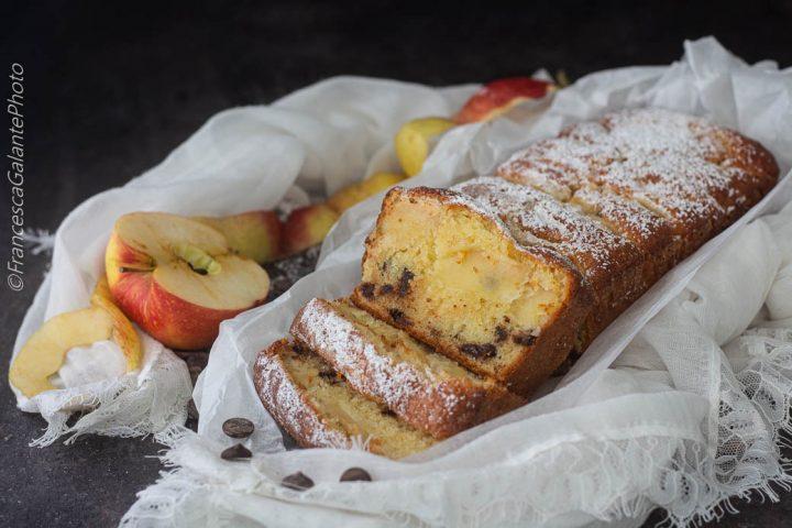 Plumcake mele e cioccolato al profumo di S.Marzano