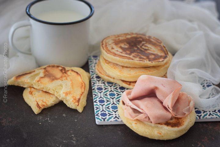 Ricetta pancake salato con mortadella