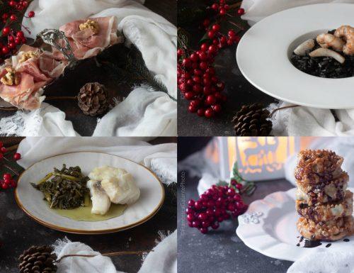 Menu' natalizio mini dall'antipasto al  dolce