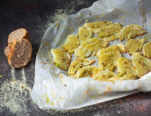 Finocchi gratinati senza bollitura al pistacchio
