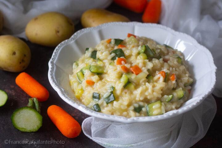 Risotto di verdure (ricetta riciclo)