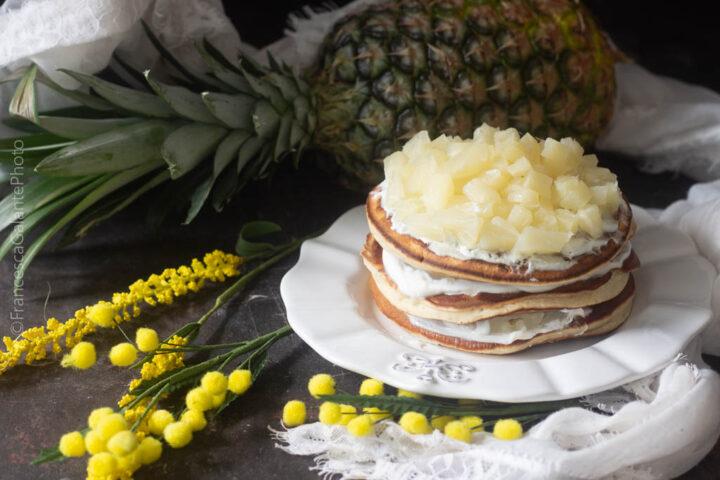 Torta pancakes mimosa leggerissima
