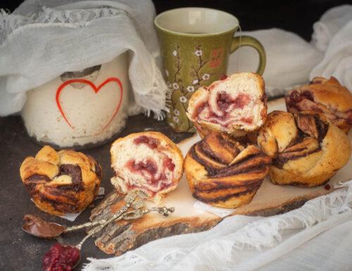 Pane brioche muffin con esubero pasta madre