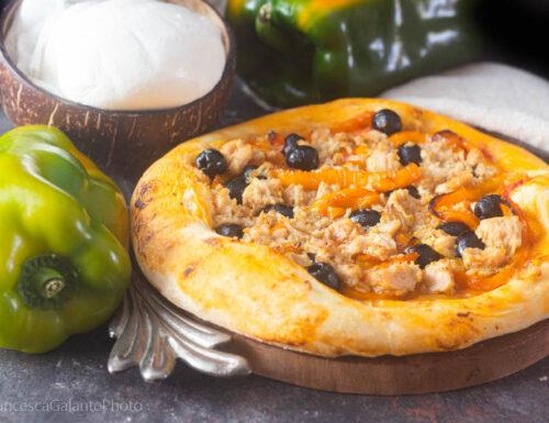 Pizza tonno peperoni impasto infallibile