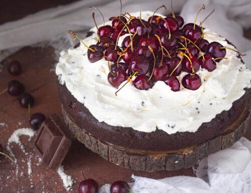Torta moretta senza burro alla ciliegia e ricotta