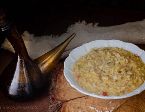 Il risotto con sughetto avanzato ai peperoni