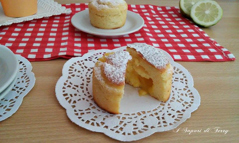 Muffin alla ricotta con cuore cremoso al limone