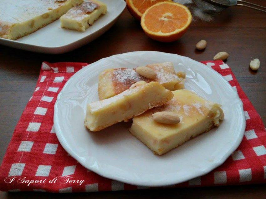 Ricotta al forno con arancia e mandorle