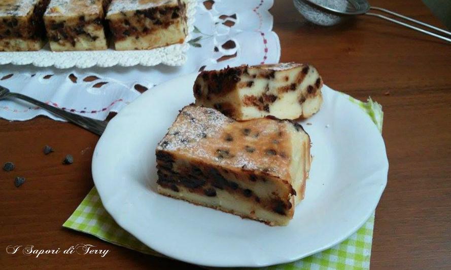 Ricotta dolce al forno con cioccolato