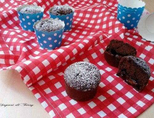 Muffin alla ricotta e cacao con cuore di nutella