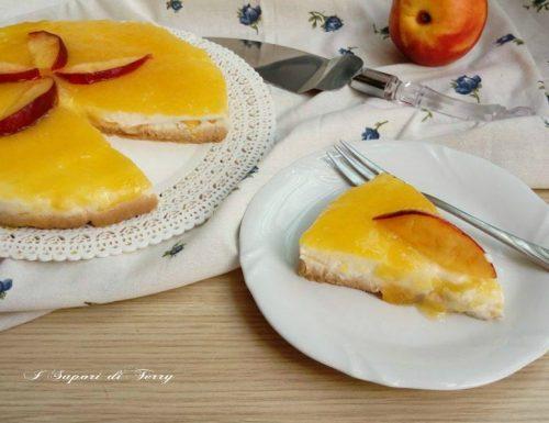 Cheesecake alle pesche ricetta leggera per Fruit 24