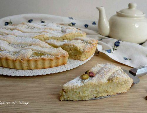 Crostata con crema ai pistacchi