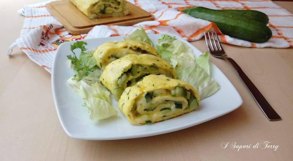 Rotolo di frittata farcito con zucchine