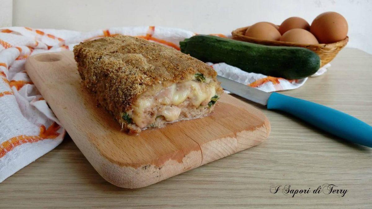 Polpettone con zucchine e mozzarella
