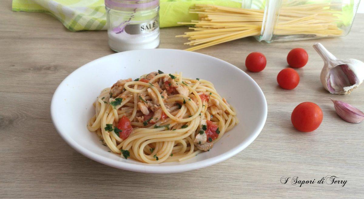 Spaghetti con merluzzo