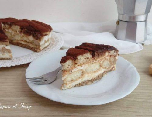 Torta semifreddo al tiramisù con ricotta