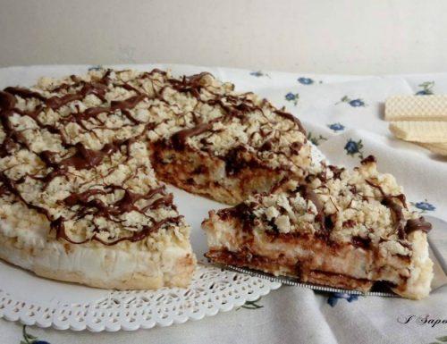 Torta fredda con wafer e nutella