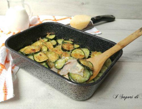 Zucchine al forno con prosciutto e mozzarella