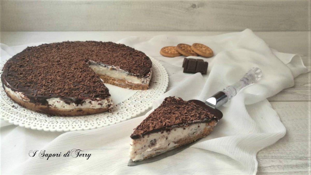 Cheesecake ricotta e cioccolato fondente