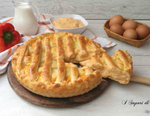 Crostata rustica con crema di peperoni