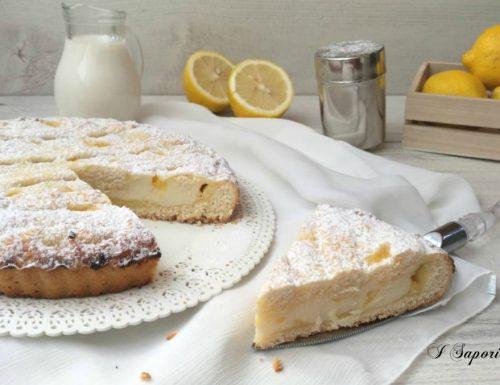 Crostata di ricotta e salsa al limone