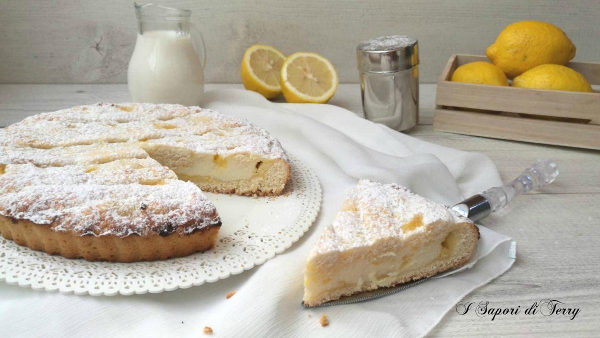 Crostata di ricotta e salsa di limone