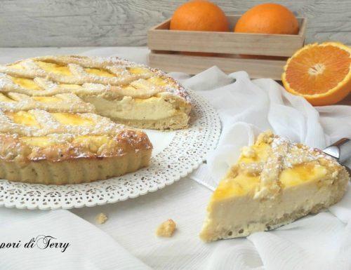 Crostata di ricotta e salsa di arance