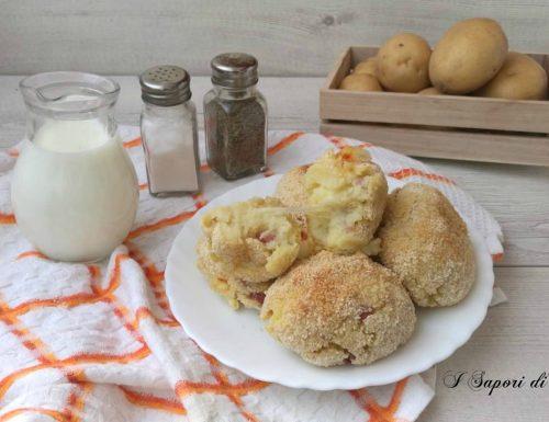 Crocchette di patate al forno farcite