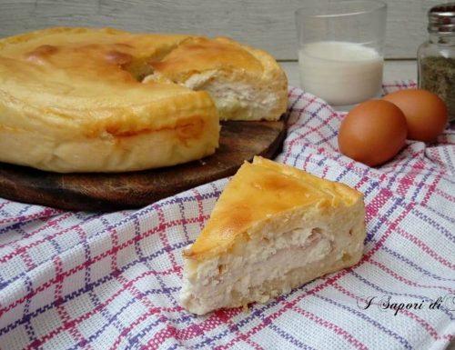 Torta salata con ricotta e prosciutto cotto