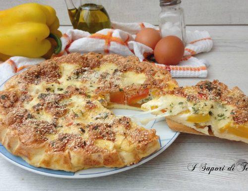 Frittata con peperoni e mozzarella